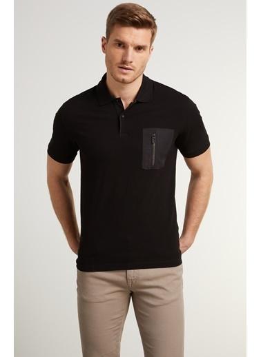 NetWork Erkek 1078413 Slim Fit Polo Yaka T-shirt Siyah